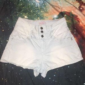 Light/White High Waisted Shorts (Size 5)